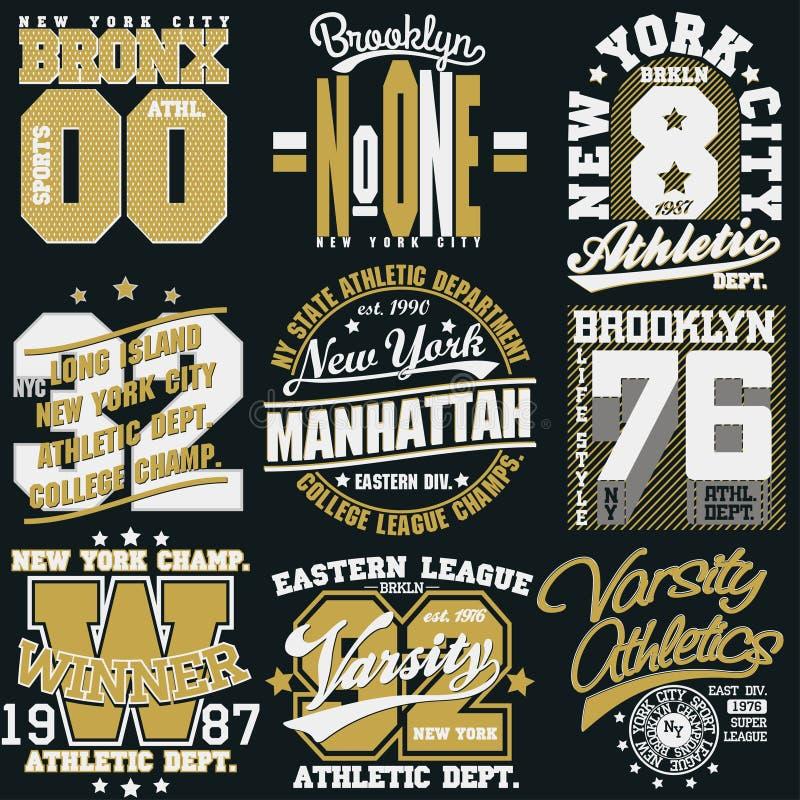 De t-shirtgrafiek van New York stock illustratie