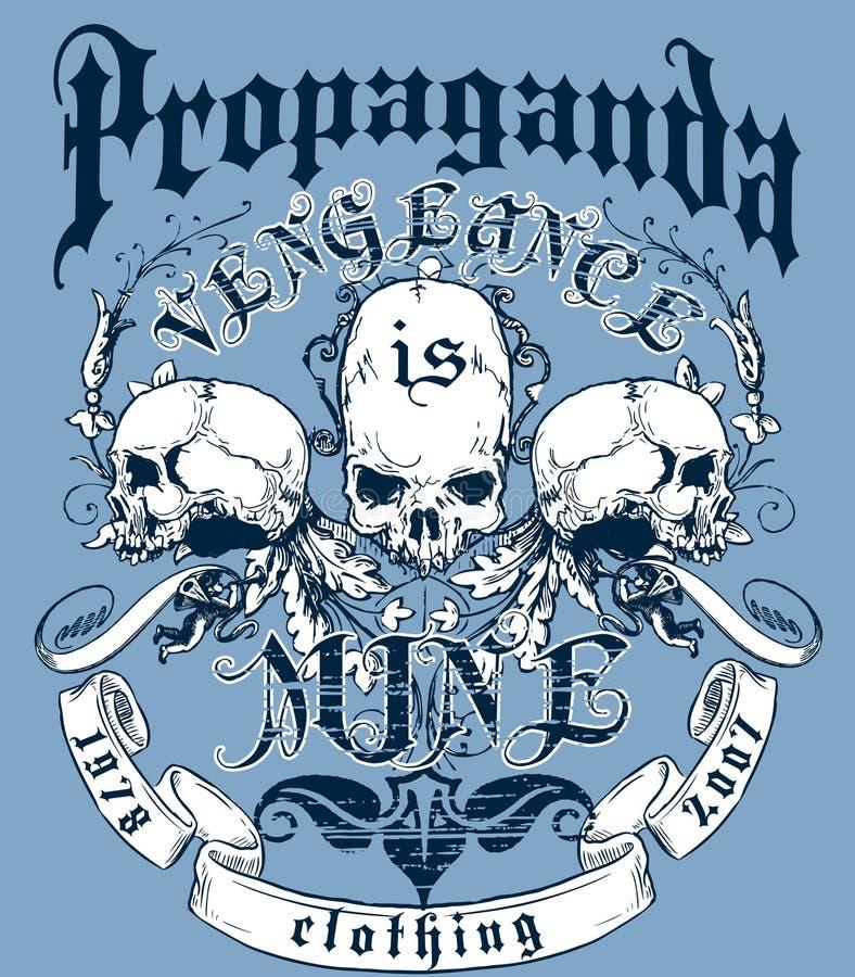 De t-shirtontwerp van de propaganda stock illustratie