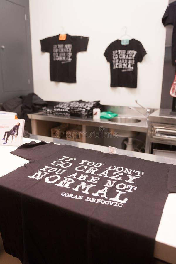De T-shirts van Bregovic stock foto