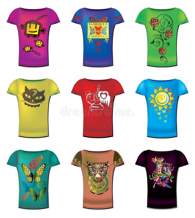 De T-shirts van vrouwen royalty-vrije illustratie