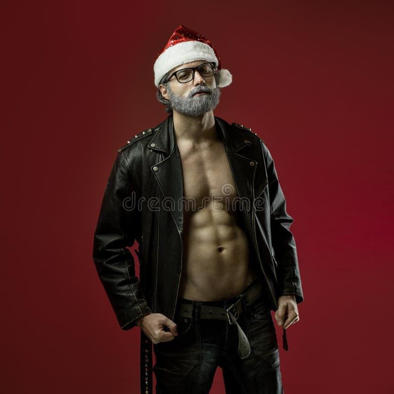 De taaie Kerstman stock foto