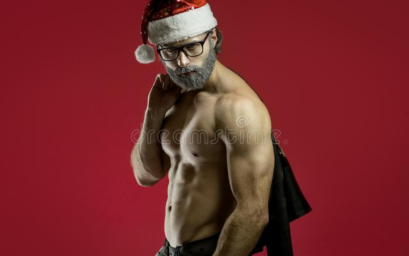 De taaie Kerstman stock foto's