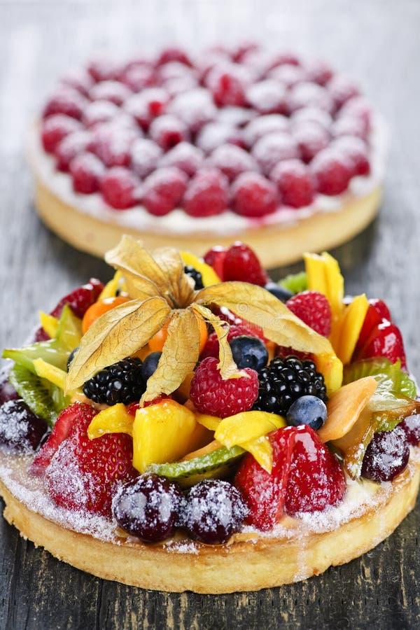 De taartjes van het fruit en van de bes stock fotografie