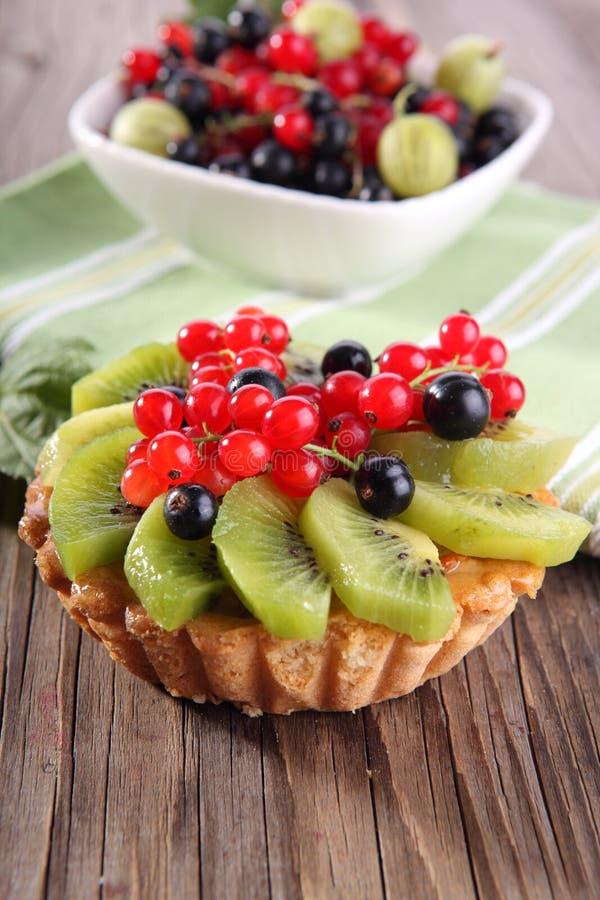 De taartjes van het fruitdessert stock foto's