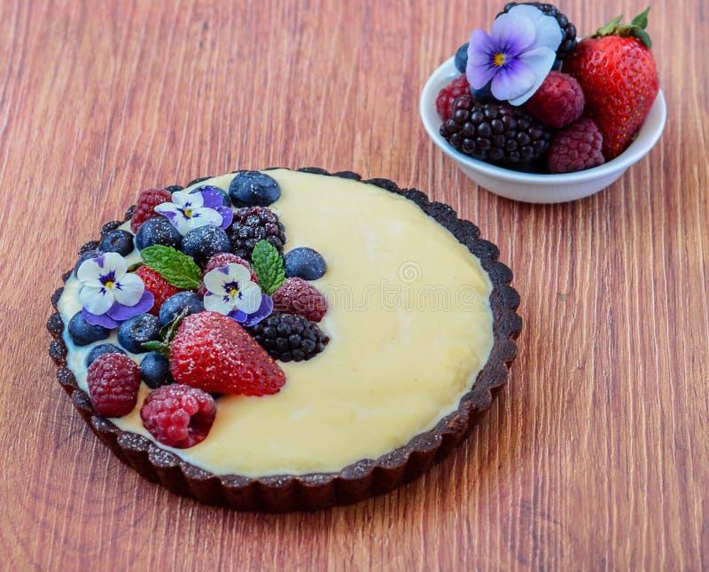 De taartjes van het fruitdessert stock foto