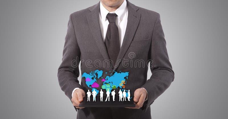 Download De Tablet Van De Aanraking In Handen Stock Illustratie - Illustratie bestaande uit internet, modern: 29506220
