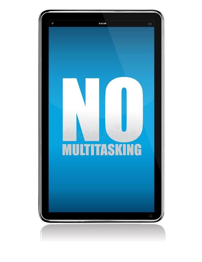 De tablet van de appel iPad geen multitasking royalty-vrije illustratie
