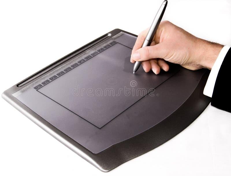 De tablet van de grafiek stock foto's