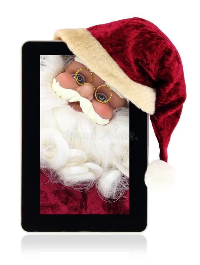 De tablet van Kerstmis royalty-vrije stock afbeelding