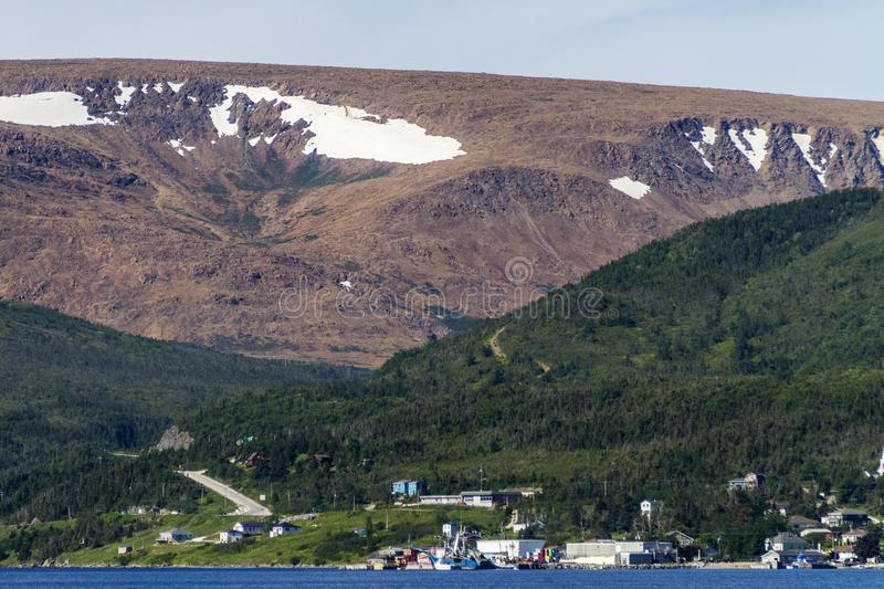 De tabletten boven Woody Point, Newfoundland royalty-vrije stock afbeeldingen