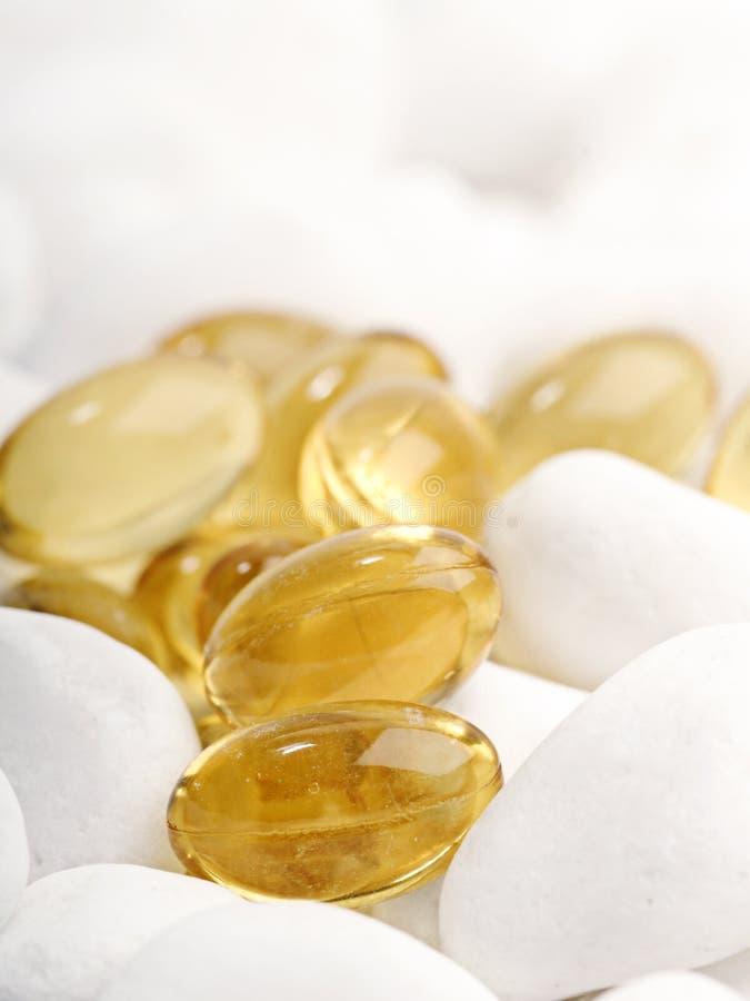 De tabletten van de de leverolie van de kabeljauw royalty-vrije stock afbeelding