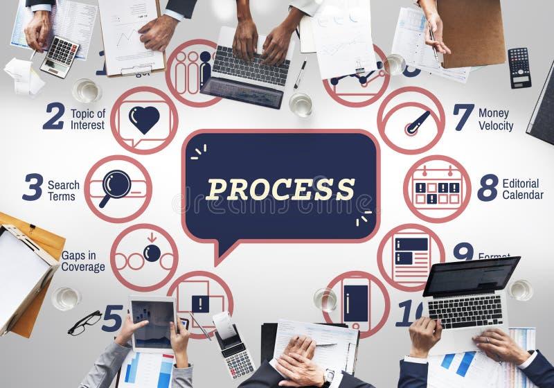 De Tactiek Grafisch Concept Strategiemethodes van de bedrijfs van Analytics royalty-vrije stock afbeeldingen