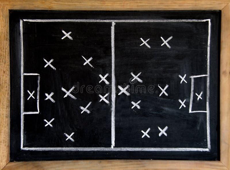 De tactiek van het voetbal stock foto