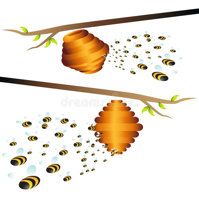 De Tak van de bijenkorf royalty-vrije illustratie