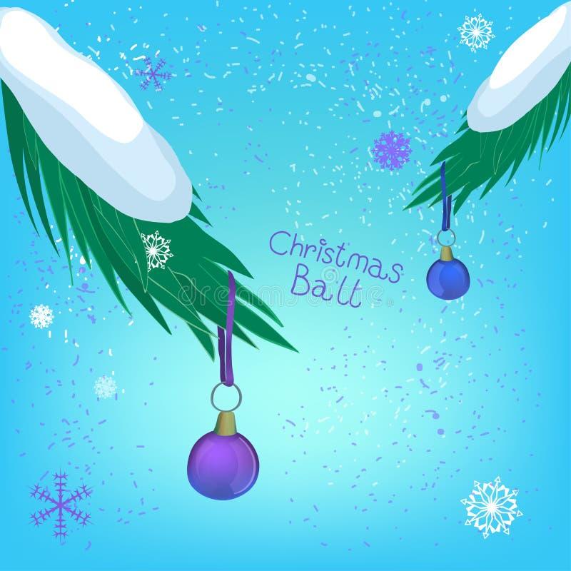 De tak van de Kerstmisbal vector illustratie