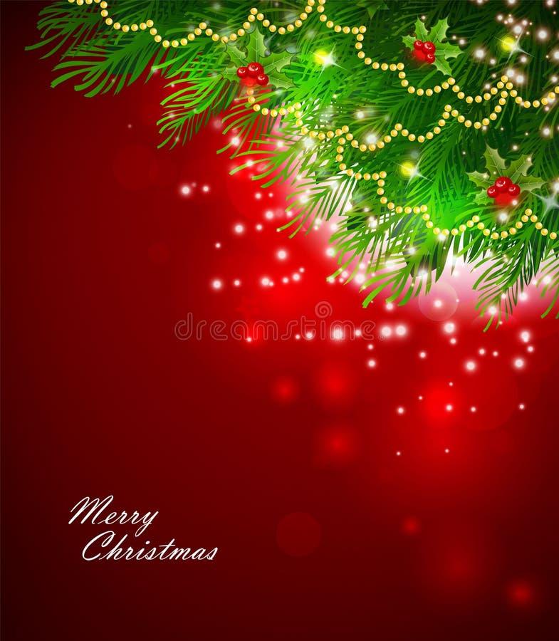 De tak van Kerstmis vector illustratie