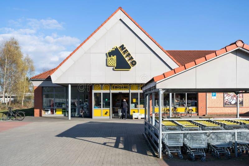 De tak van Nettolebensmitteldiscounter in Quickborn Duitsland royalty-vrije stock afbeelding