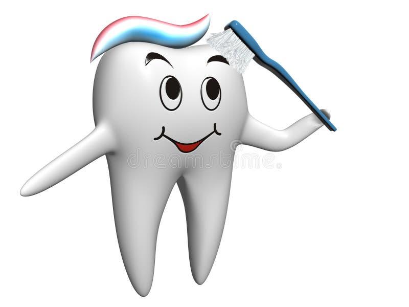 De tand van Selfbrushing stock illustratie