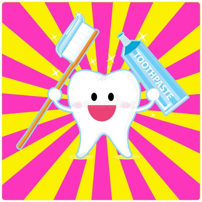 De tand van Smiley stock illustratie