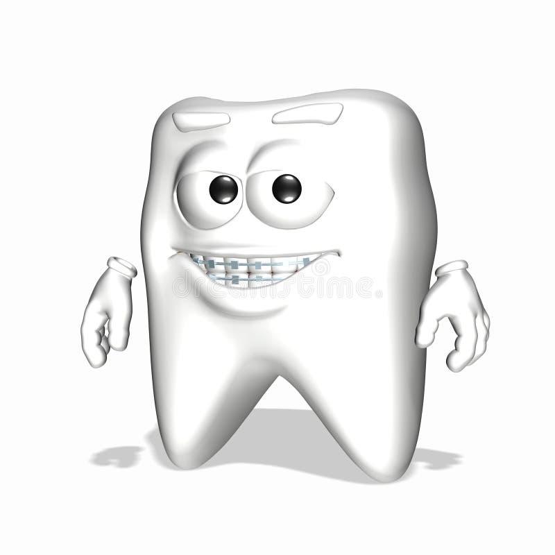 De Tand van Smiley - Steunen vector illustratie