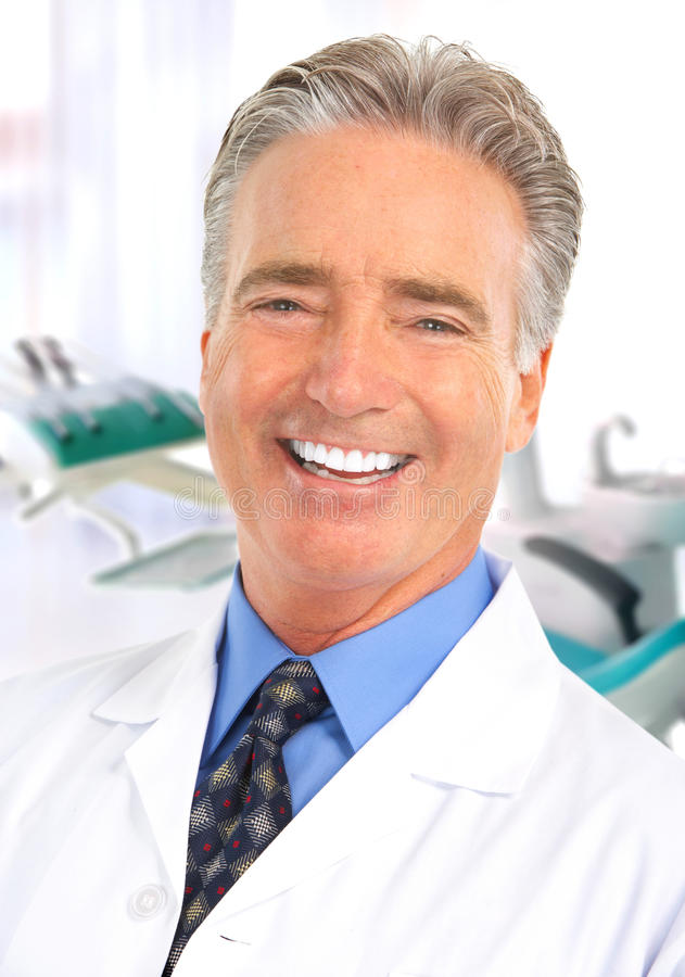 De tandarts van de arts stock foto