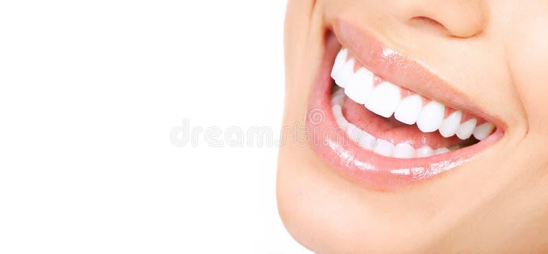 De tanden van de vrouw stock afbeelding