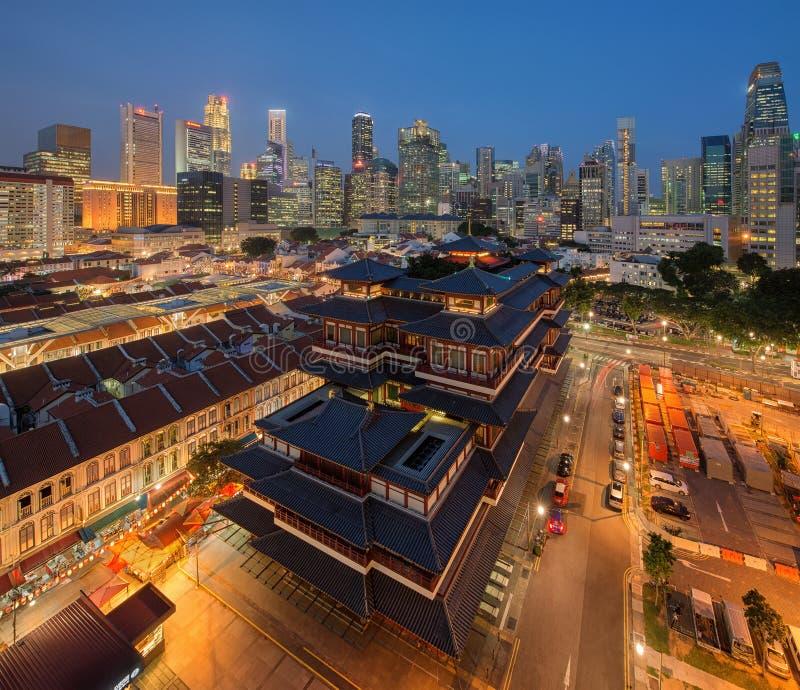 De Tandoverblijfsel van Boedha, de stad van China, Singapore stock fotografie