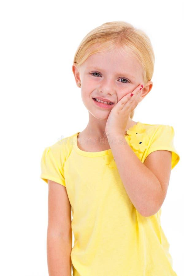 De tandpijn van het meisje stock foto's