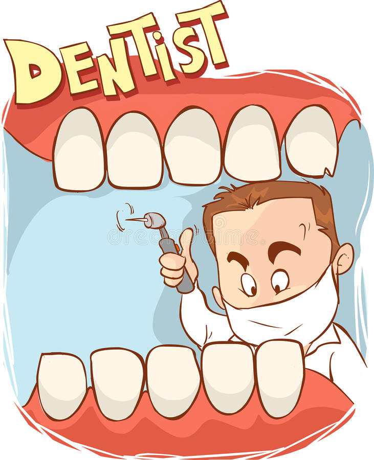 De tandvector van de kliniekillustratie royalty-vrije illustratie