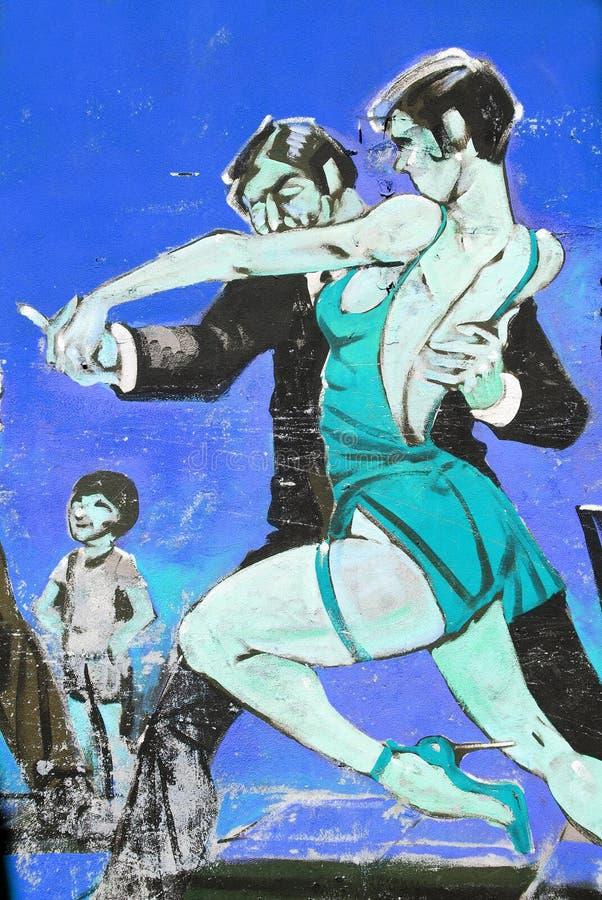 De Tango van de straatkunst stock foto's