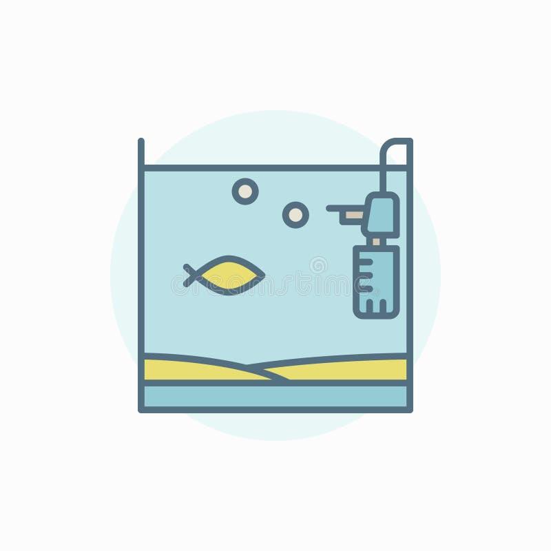De tank kleurrijk pictogram van huisvissen stock illustratie
