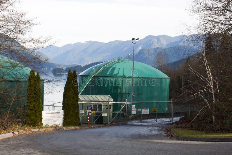 De tank van de olieopslag Kinder Morgan stock afbeelding