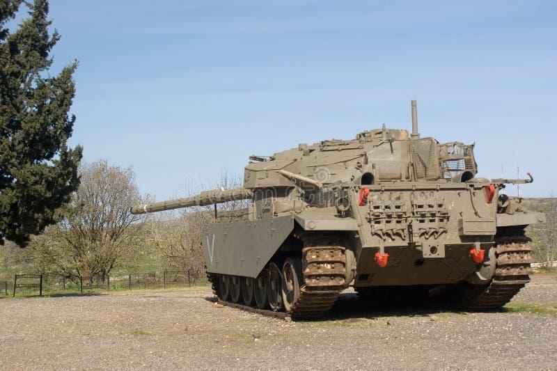 De tank van Merkava bij de Golanhoogten royalty-vrije stock foto's