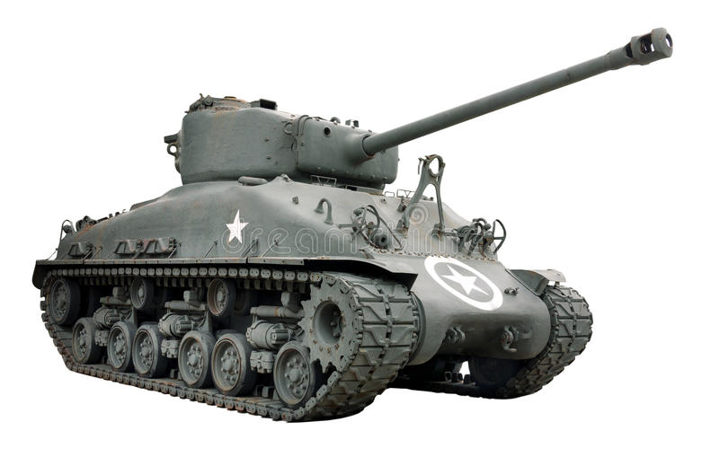De Tank van Sherman stock afbeeldingen
