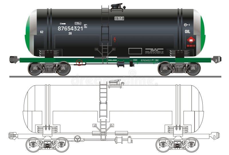 De tankerauto van de olie/van de benzine royalty-vrije illustratie