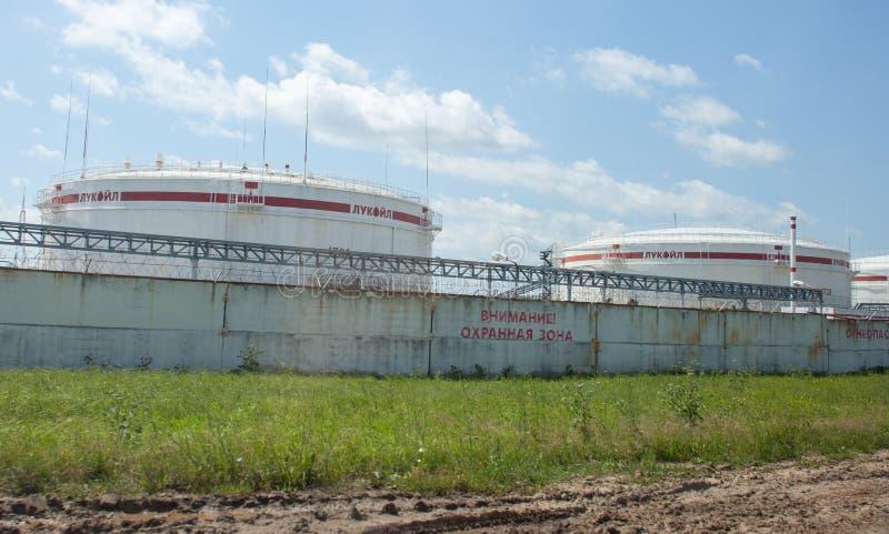 De tanks van de Lukoilolie, Rusland stock afbeelding