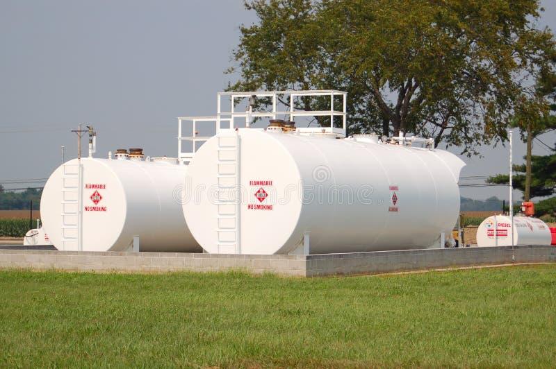 De Tanks van de Opslag van de brandstof royalty-vrije stock foto