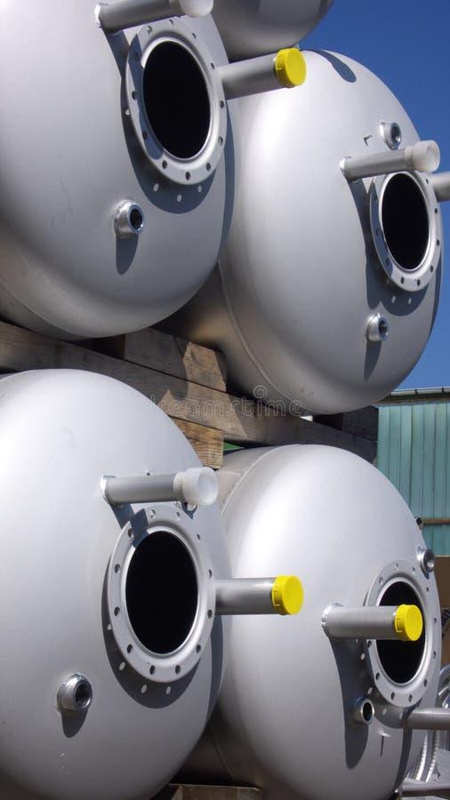 De Tanks van het staal stock foto