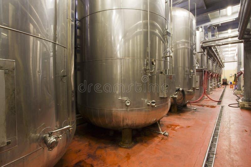 De tanks van het staal royalty-vrije stock afbeelding
