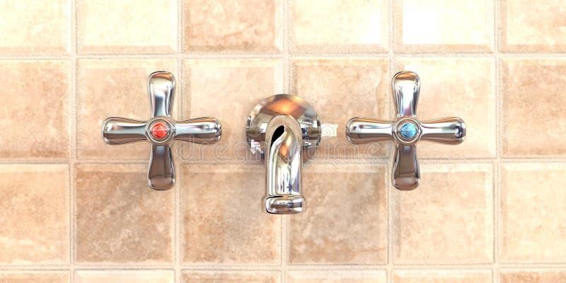 De Tapkraan van de badkamers stock illustratie