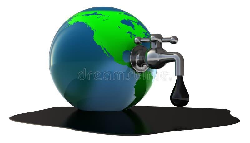 De tapkraan van de olie royalty-vrije illustratie