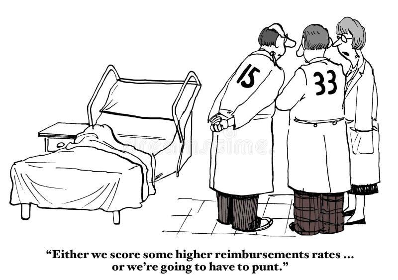 De Tarieven van de verzekeringsterugbetaling vector illustratie