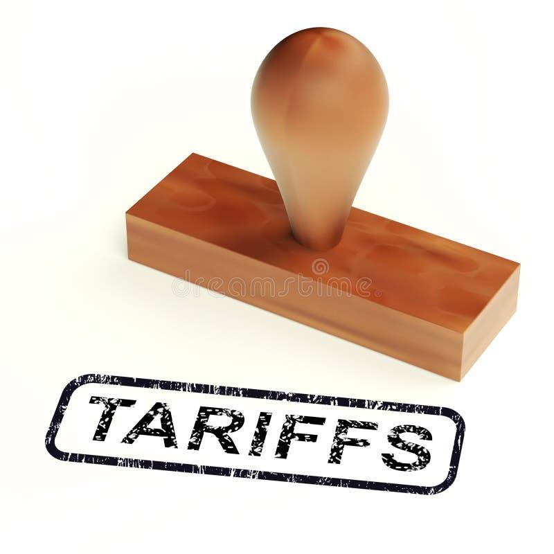 De Tarieven van de troefhandel op China als Levy And Penalty - 3d Illustratie royalty-vrije illustratie