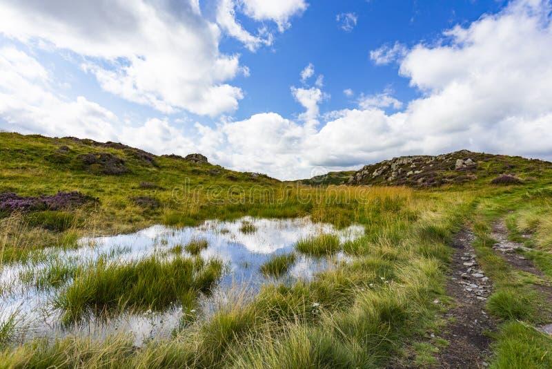 De Tarn dichtbij Moss Crag stock foto