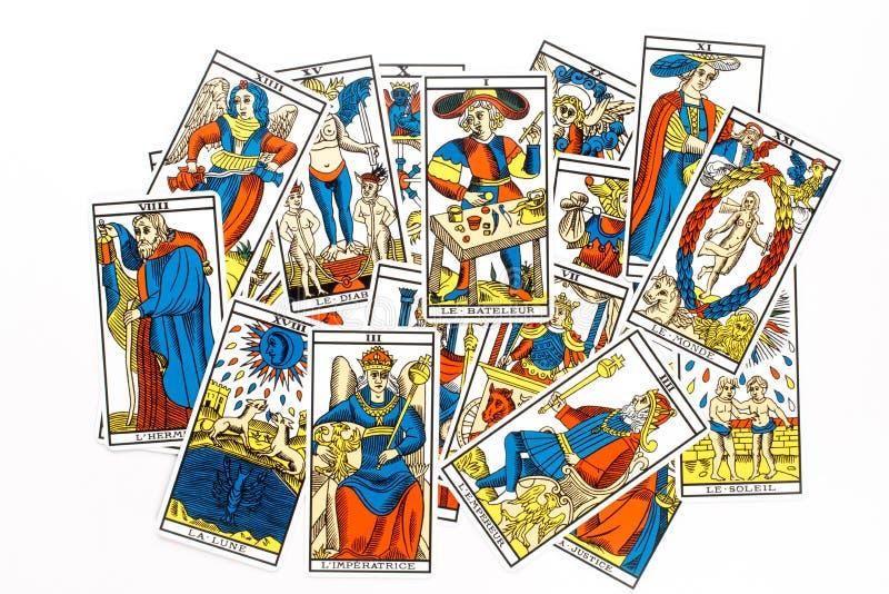 De tarotkaart trekt royalty-vrije illustratie
