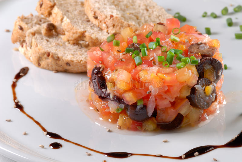 de tartare tomate στοκ εικόνα