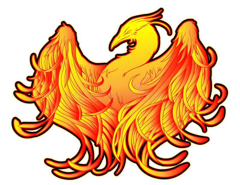 De Tatoegering van de Brand van Phoenix vector illustratie