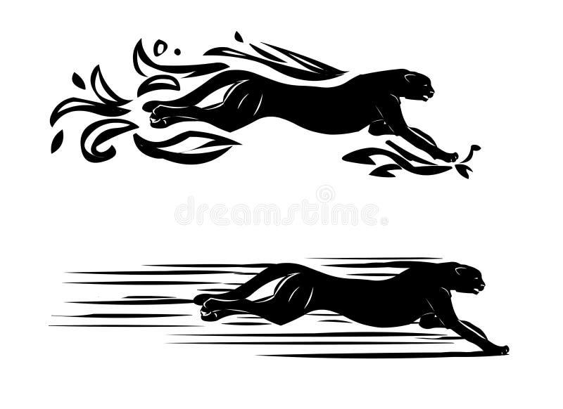 De tatoegering van de jachtluipaard stock illustratie