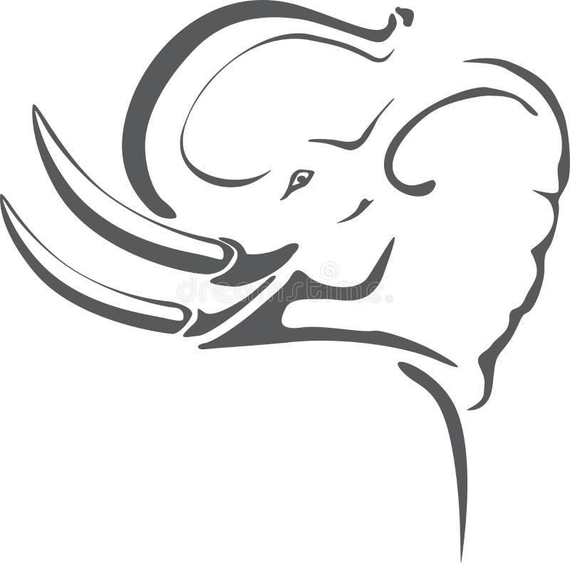 De tatoegering van de olifant stock illustratie
