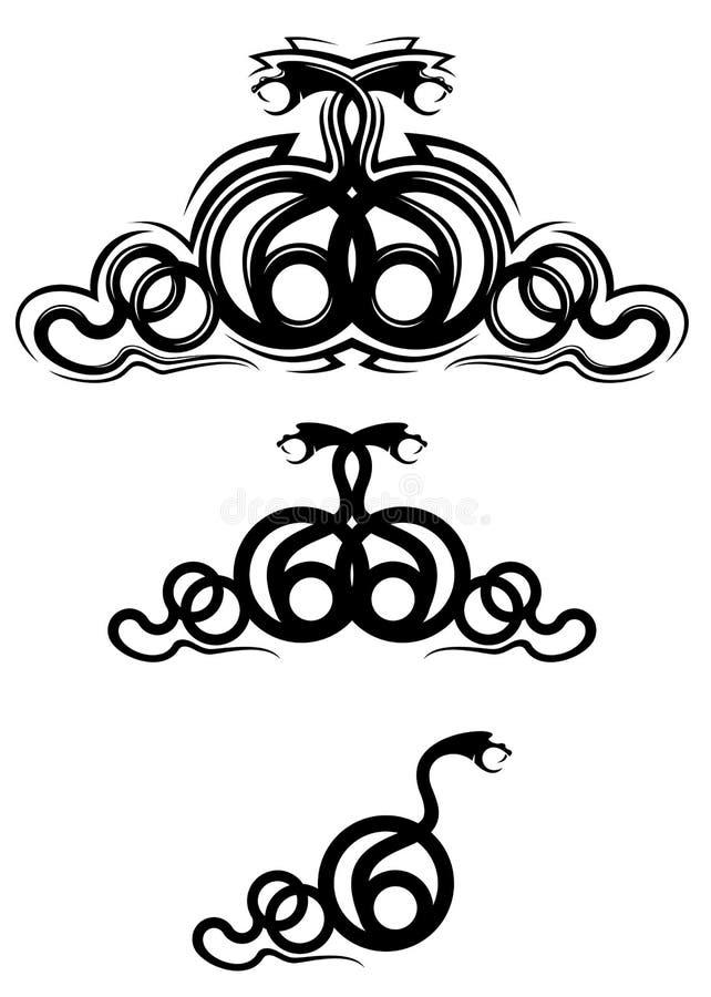 De tatoegering van de slang vector illustratie